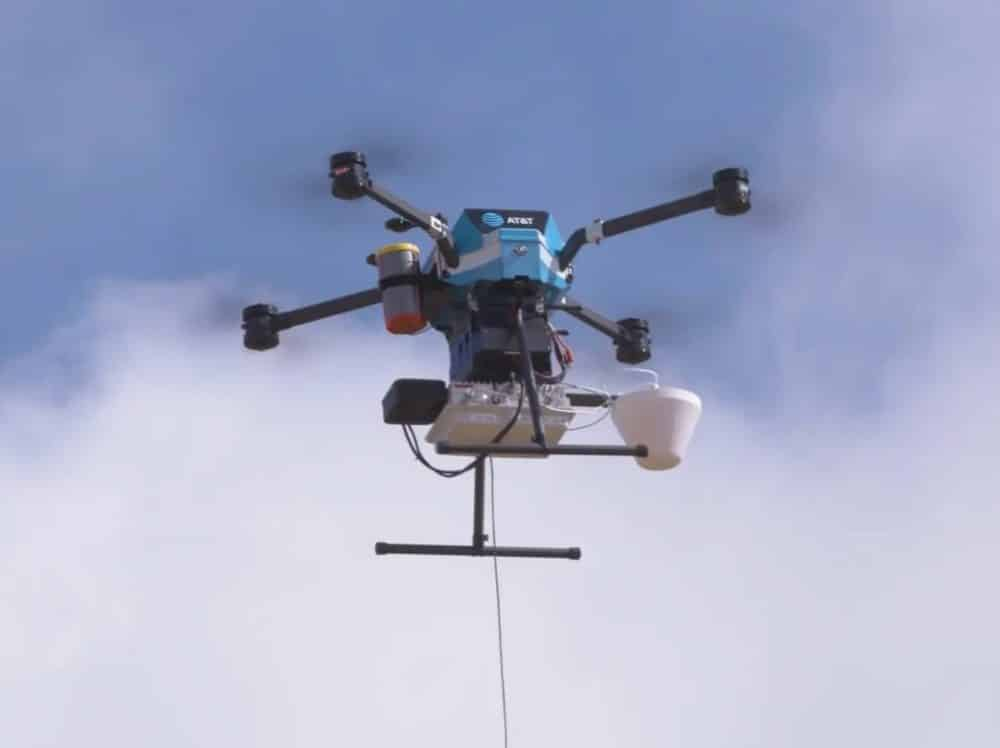 AT&T's tethered drones provide internet in hurricane-hit areas