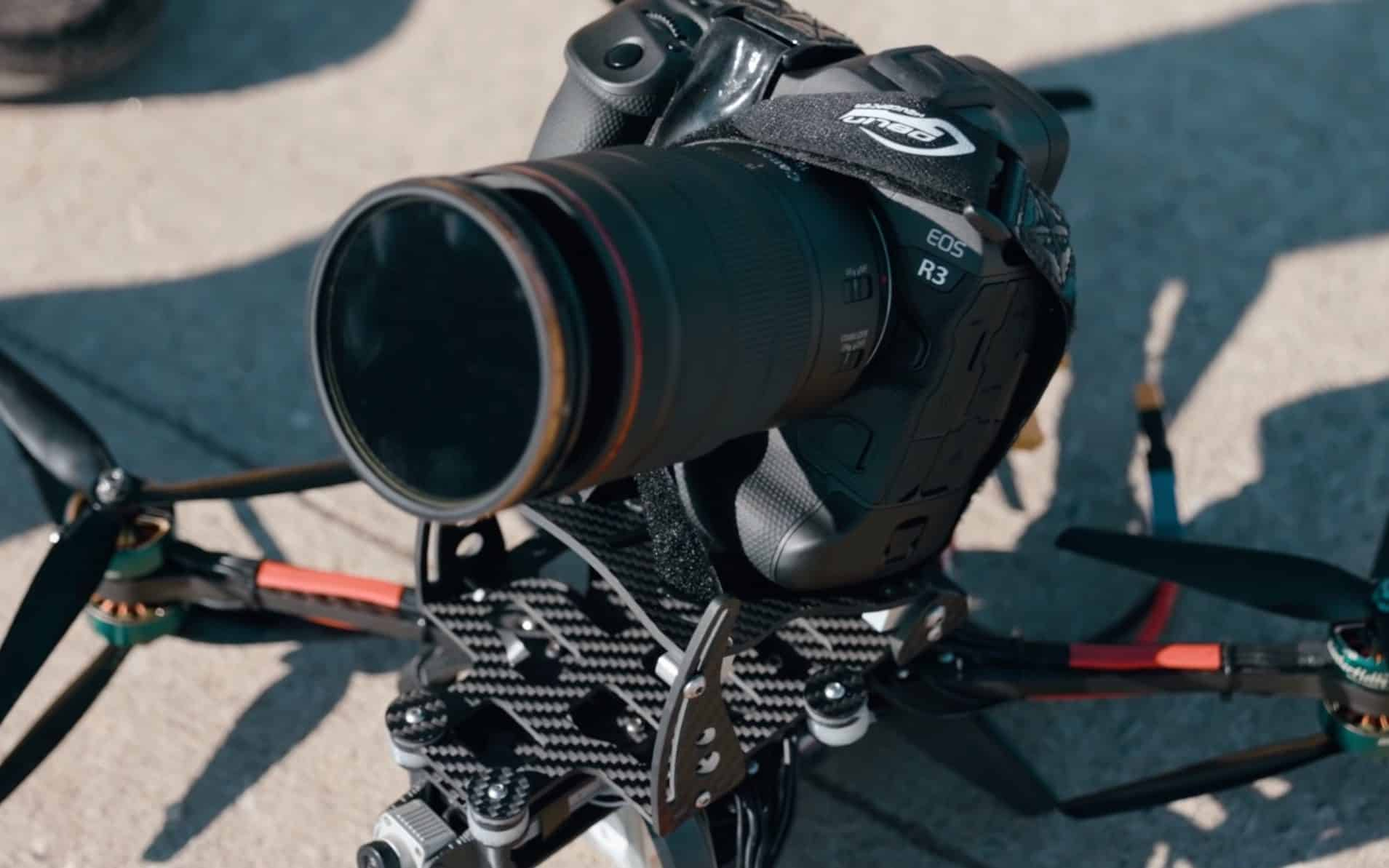 Peter McKinnon puts new Canon EOS R3 on FPV drone. What could possibly go wrong?