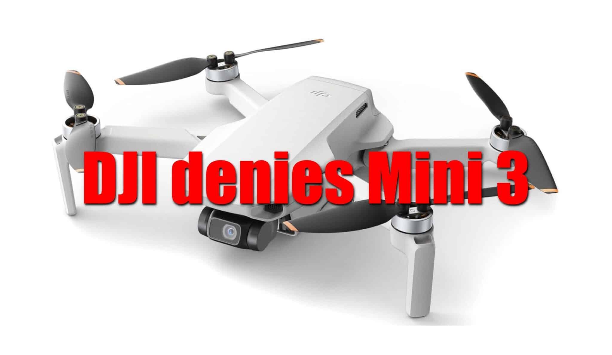 DJI Mini 3 existence denied by DJI spokesperson