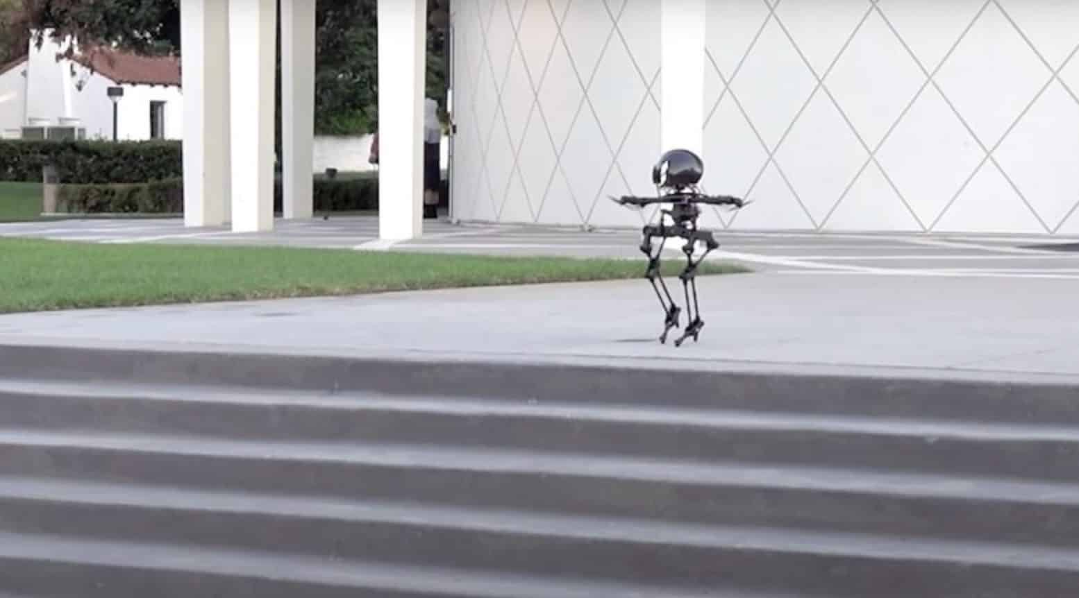Robotdrone LEO can walk and skateboard in addition to flying